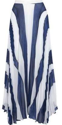 Alice + Olivia Alice+olivia Pleated Printed Chiffon Maxi Skirt