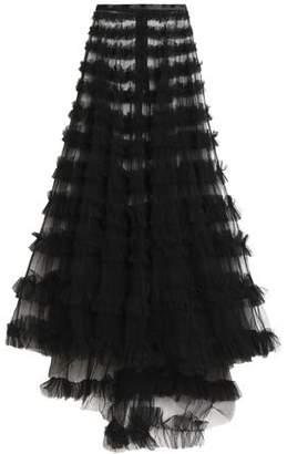 Rachel Gilbert Ruffled Tulle Maxi Skirt