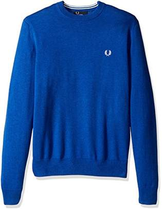 Fred Perry Men's Classic Crew Neck Cotton Sweater