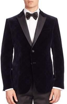 Armani Collezioni Velvet Argyle Dinner Jacket