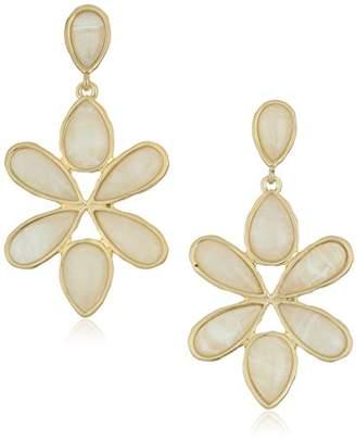 Karen Kane Tidal Wave Statement Gold Drop Earrings