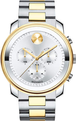 Movado Bold 44mm Bold Chronograph Watch, Silver