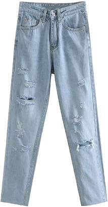 Goodnight Macaroon 'Jamie' Distressed Light Washed Jeans