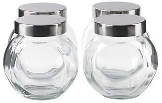 At George Asda Home Gl Storage Jar With Lid Set Of 4