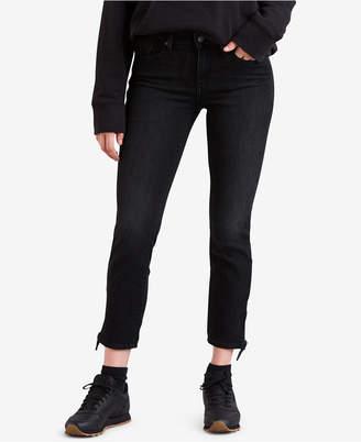 Levi's Knotted-Hem Skinny Jeans