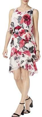 S.L. Fashions Women's Sleeveless Chiffon Tiered Cocktail Dress