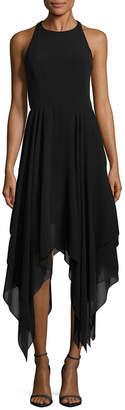 Aidan Mattox Crepe Handkerchief Dress