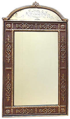 One Kings Lane Vintage Vertical Etched Giltwood Mirror