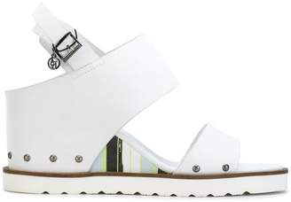 Armani Jeans ridged sole sandals