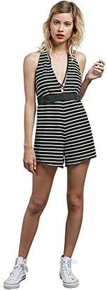 Volcom Junior's Stripe Row Romper
