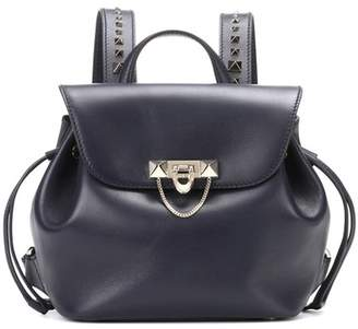 Valentino Demilune Small leather backpack