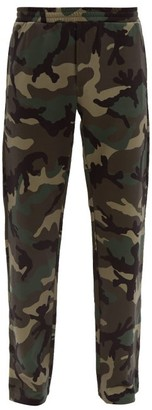 Valentino Camouflage V Logo Track Pants - Mens - Khaki