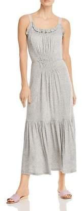 Rebecca Taylor Shirred Ruffle Midi Tank Dress