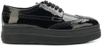 Prada varnished lace-up shoes