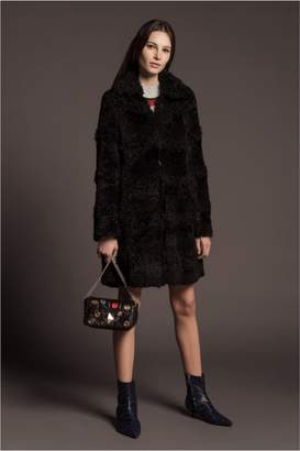 Sonia Rykiel Faux Fur Effect Knitted Coat