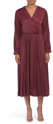Coolples Made In Italy Pleated Chiffon Dress