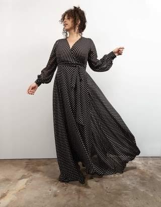Baacal No*33 Wrap Dress in Black/White Polka Dot Size 2