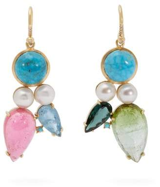 Irene Neuwirth 18kt Gold & Multi Stone Mismatched Earrings - Womens - Multi