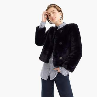 J.Crew Cropped faux fur coat