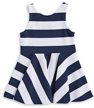 Ralph Lauren Ponte Stripe A-Line Dress
