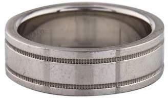 Tiffany & Co. Platinum Flat Double Milgrain Wedding Band