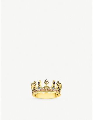 Thomas Sabo Kingdom of Dreams 18ct yellow gold plated silver Crown ring