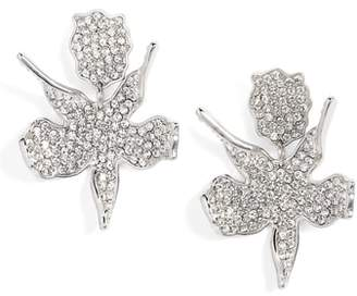 Lele Sadoughi Allover Crystal Lily Earrings
