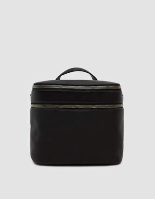 Kara Stowaway Pebble Leather Satchel