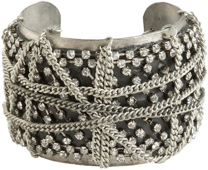 Arden B Rhinestone Chain Cuff
