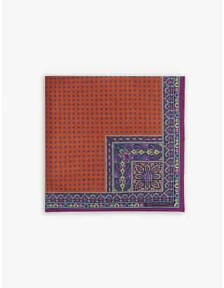 Etro Paisley polka-dot print pocket square