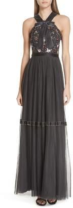 Needle & Thread Ester Halter Gown
