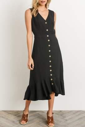 Gilli Button Ruffle Dress