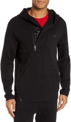 BOSS Sannok Quarter-Zip Hoodie Sweatshirt