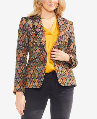 Vince Camuto Printed One-Button Blazer