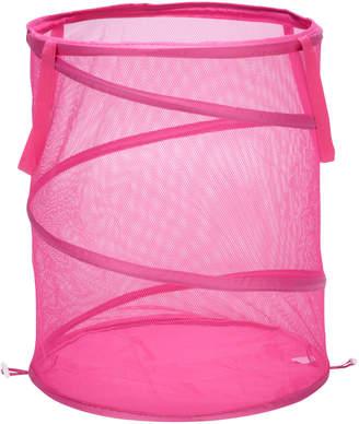 Honey-Can-Do Pink Large Mesh Pop-Open Hamper