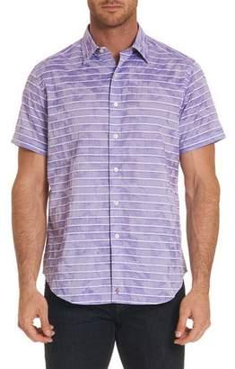 Robert Graham Avenida Striped Short-Sleeve Shirt