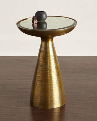 Horchow Evan Mirrored-Top Side Table