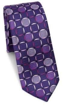 Saks Fifth Avenue MODERN Big Dot Silk Tie
