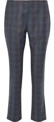 Carolina Herrera Checked Wool-Twill Slim-Leg Pants