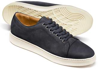 Charles Tyrwhitt Blue Nubuck Leather Toe Cap Sneakers Size 7