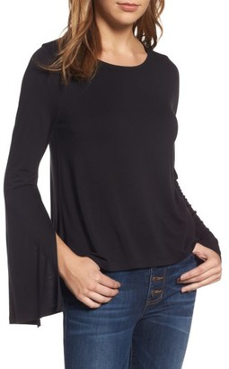 Women's Bp. Split Sleeve Tee $42 thestylecure.com