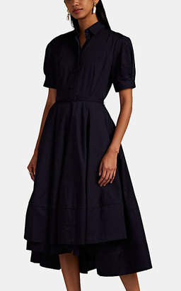 Co Women's Cotton Poplin A-Line Dress - Navy