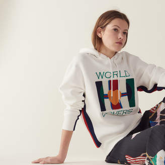 Sandro Sweatshirt with embroidery and flocking