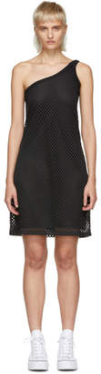 Opening Ceremony Black Mesh One-Shoulder Dress