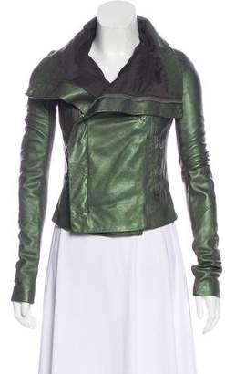 Rick Owens Iridescent Leather Jacket