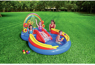 Intex Rainbow Ring Play Centre Inflatable Pool- 9.5ft - 201L