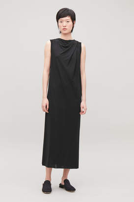 Cos TWIST-FRONT LONG JERSEY DRESS