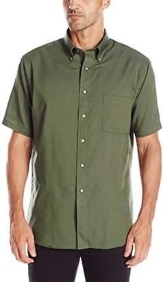 Van Heusen Mens Dress Shirts Short Sleeve Oxford Solid Button Down Collar