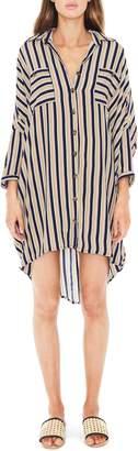 Faithfull The Brand Spencer Stripe Shirtdress