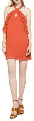 BCBGeneration Sleeveless Chiffon Ruffle Dress